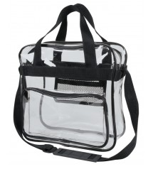 CLEAR VINYL MESSENGER BAG